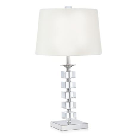 Stacked Cubes Crystal Table Lamp