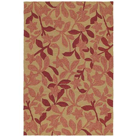 Home and Porch Star Fish Cinnamon Area Rug