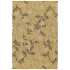 Home and Porch Star Fish Natural Area Rug