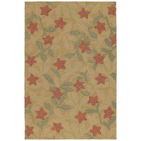 Home and Porch Star Fish Coffee Area Rug