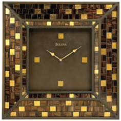 "Bulova 22"" High Alsace Mosaic Wall Clock"