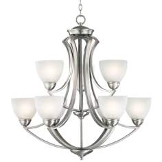 "Possini Euro Design Milbury Nine Light 30"" Wide Chandelier"