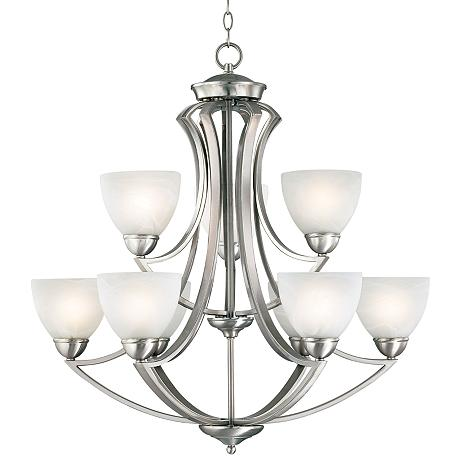 possini euro design milbury nine light 30 wide chandelier p0508. Black Bedroom Furniture Sets. Home Design Ideas