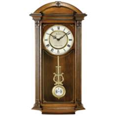 "Bulova 29 3/4"" High Hartwick Triple-Chime Pendulum Clock"