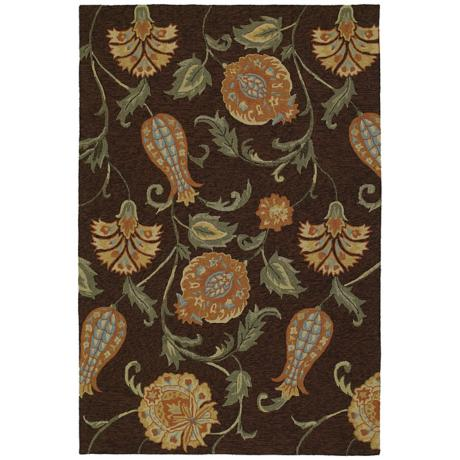Home and Porch Bona Belle Black Area Rug