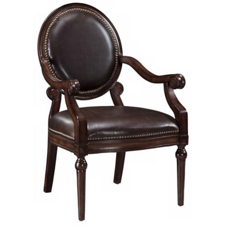 Covington Brown Bicast Leather Accent Chair