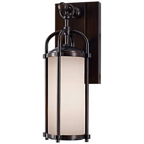 "Feiss Dakota Espresso 13 1/4"" High Outdoor Wall Light"