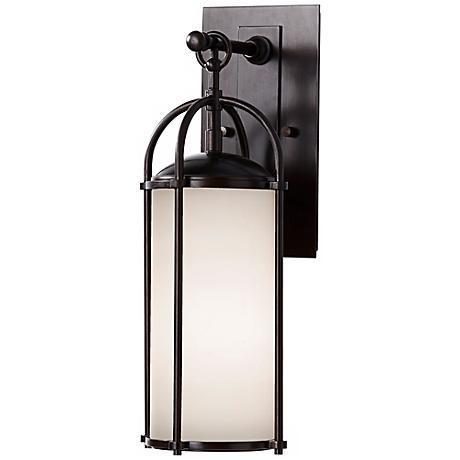 "Feiss Dakota Espresso 17"" High Outdoor Wall Light"