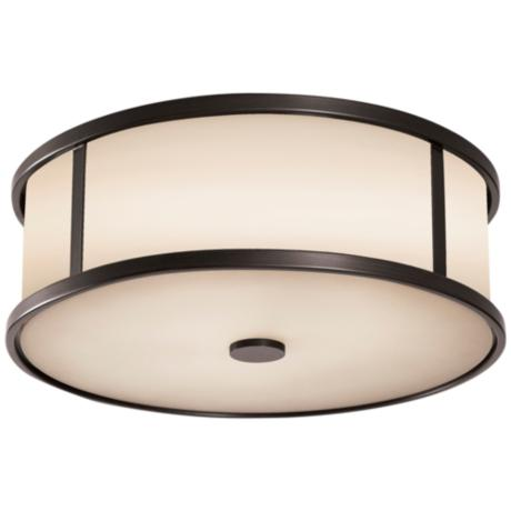 "Murray Feiss Dakota Espresso 14"" Wide Ceiling Light"