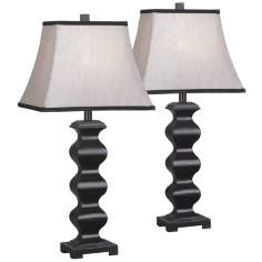 Set of 2 Steppe Black Table Lamps