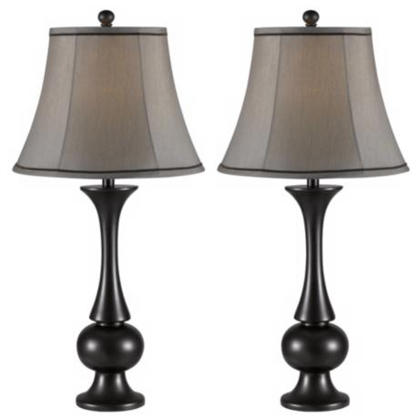 Set of 2 Abbott Metallic Bronze Table Lamps
