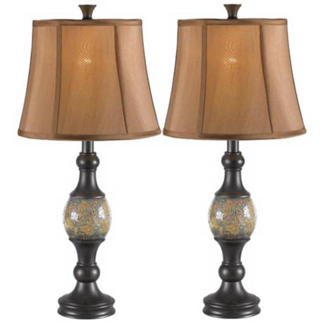 Set of 2 Shay Dark Bronze Table Lamps