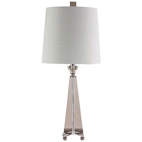 John Richard Crystal Pyramid Table Lamp