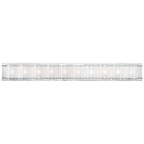"Possini Euro Design Glass Bands 37 1/2"" Wide Bath Light"