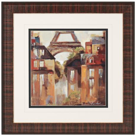 "Paris-Late Summer I 31"" Square Framed Wall Art Print"