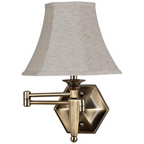 kenroy mackinley bronze plug in swing arm wall lamp. Black Bedroom Furniture Sets. Home Design Ideas