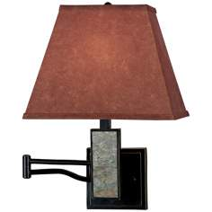 Kenroy Dakota Bronze Plug-In Swing Arm Wall Lamp