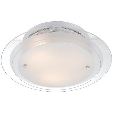 "Possini Euro Design 2-Tier Glass 15 3/4"" Wide Ceiling Light"