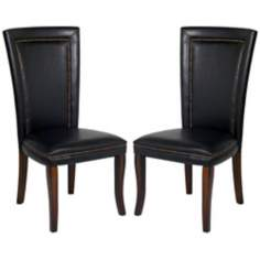 Fenwick Collection Set of 2 Faux Leather Chairs