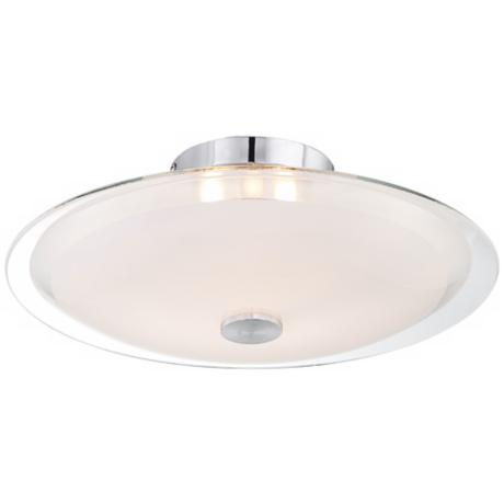 "Possini Glass Disk 15"" Wide Round Ceiling Light"