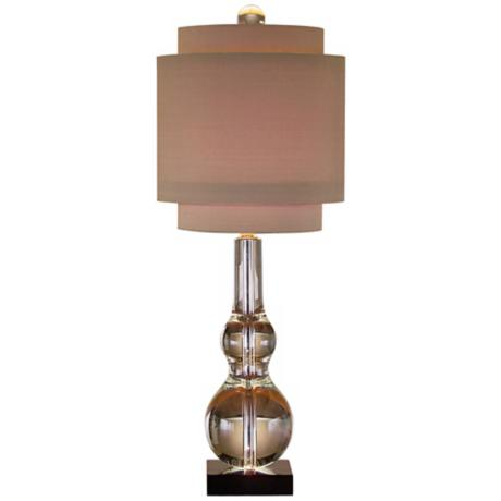 John Richard Crystal Double Gourd Table Lamp