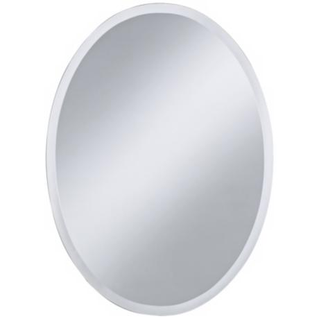 "Oval Regency 30"" High Beveled Wall Mirror"
