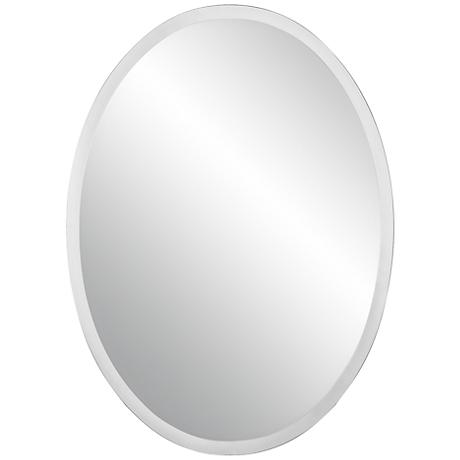 "Oval Regency 48"" High Beveled Mirror"