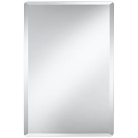 "Frameless Rectangular 36"" High Beveled Mirror"