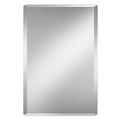 "Frameless Rectangular 30"" High Beveled Mirror"