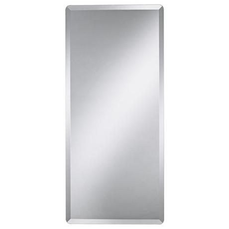 Frameless Rectangular 40 Quot High Beveled Wall Mirror