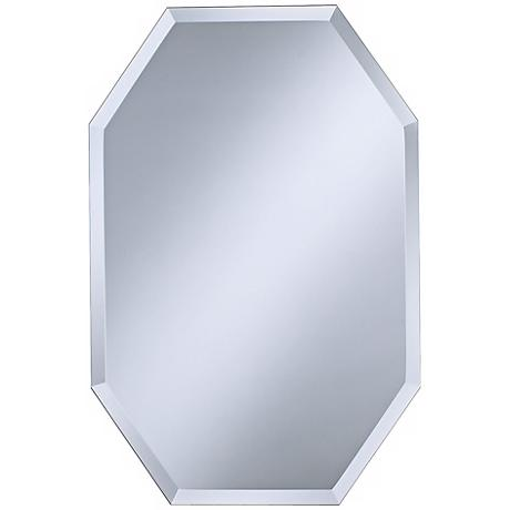 "Octagonal Frameless 30"" High Beveled Wall Mirror"