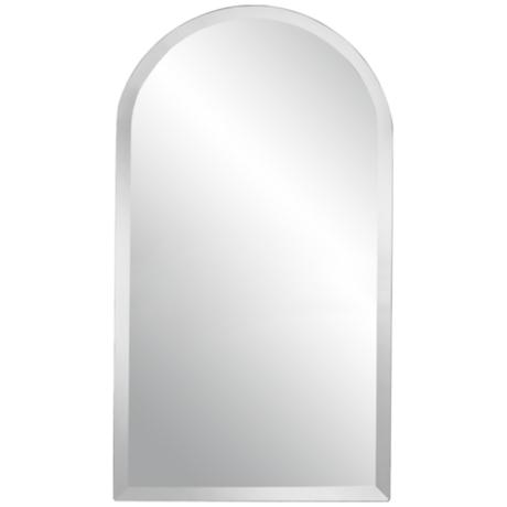 "Arch Frameless Beveled 36"" High Mirror"