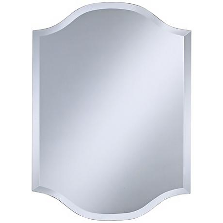 "Double Crown Frameless 30"" High Beveled Wall Mirror"