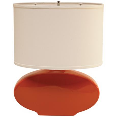 Haeger Potteries Paprika Oval Ceramic Table Lamp