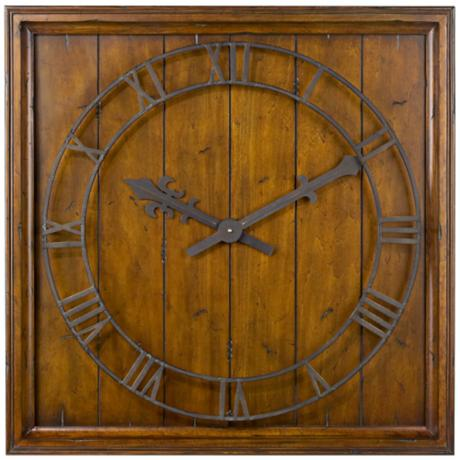 "Uttermost Garrison 32"" Wide Wall Clock"