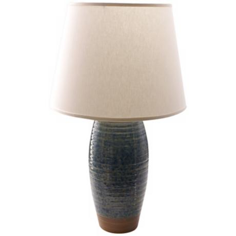 Haeger Potteries Desert Sky Ceramic Potters Mark Table Lamp