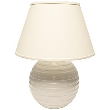 Haeger Potteries White Centrifugal Ceramic Table Lamp