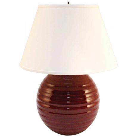 Haeger Potteries Cranberry Centrifugal Ceramic Table Lamp
