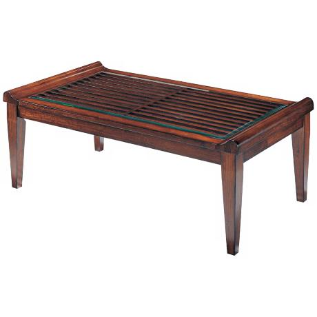 Kenya Tobacco Finish Cocktail Table