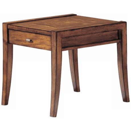 Riley Cinnamon Finish End Table