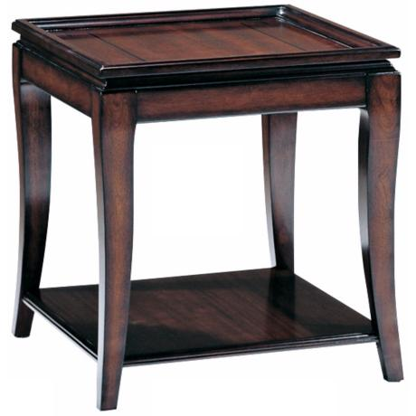 Mandarin Aged Mahogany Finish End Table