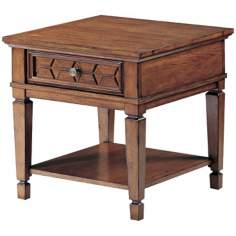 Denver Cabin Pecan Finish End Table