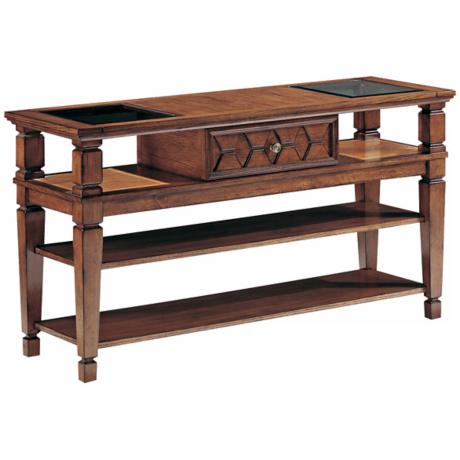 Denver Cabin Pecan Finish Sofa Table