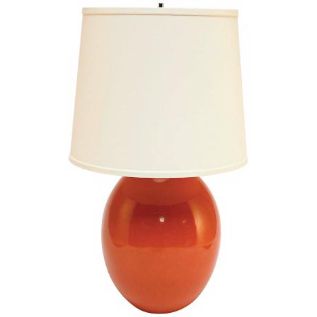 Haeger Potteries Paprika Ceramic Egg Table Lamp