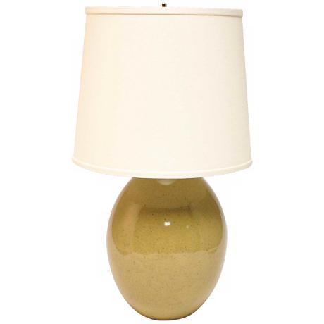Haeger Potteries Sage Ceramic Egg Table Lamp