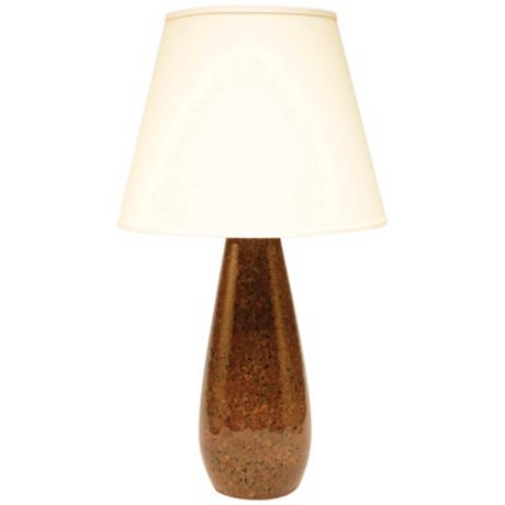 Haeger Potteries Mahogany Stone Ceramic Tear Drop Table Lamp