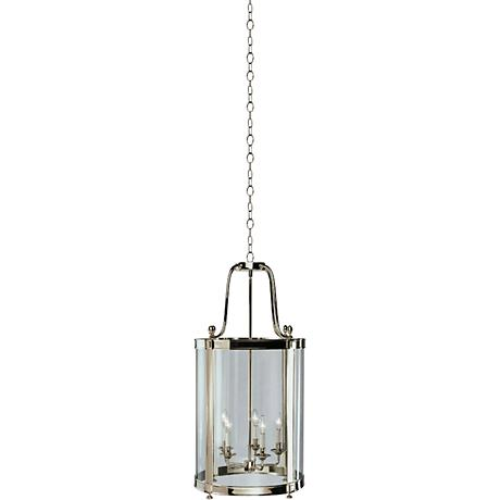 "Robert Abbey Blake Polished Nickel 18"" Entryway Chandelier"