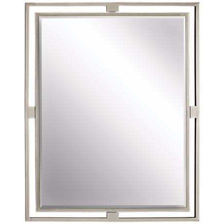 Unique Bathroom Mirrors on Frame  Rectangular Mirror  Beveled Glass  Vertical Mount Only  Mirror