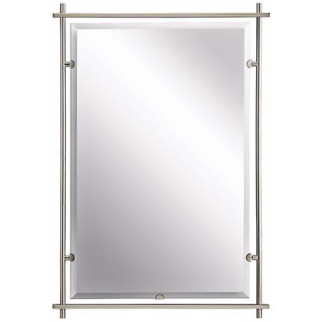 "Kichler Eileen Brushed Nickel 39"" High Wall Mirror"