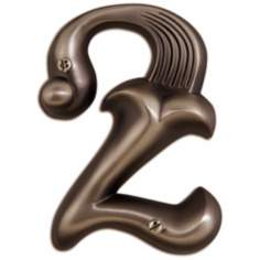 Alhambra Aged Bronze Finish House Number 2
